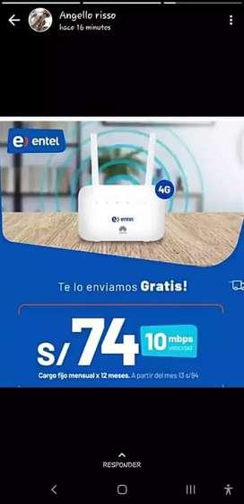 ROUTER INALAMBRICO ENTEL segunda mano  Perú