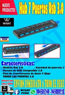 Hub 7 Puertos Usb 3.0