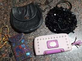 Lote carteras y billetera