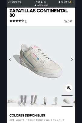 Zapatillas Adidas continental ( 7 usa) hombre