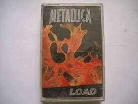 metallica load librito + caja sin cassette muy buen estado