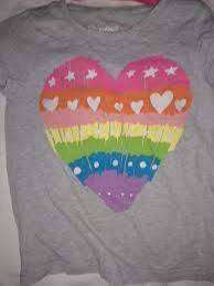 Remera Osh Kosh M.corta 5 Años Gris Corazon Colores Hermosa