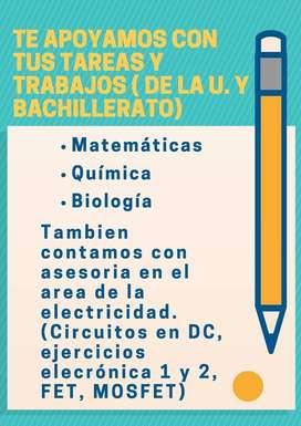 Asesorías particulares de Bachillerato y Universidad