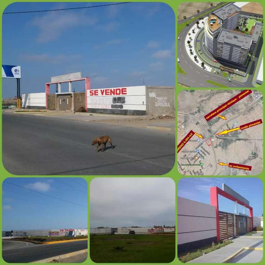 venta de terreno comercial 6,400 m2 chiclayo  - frente al ovalo carretera pimentel 0