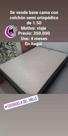 BASE CAMA DE 1.50
