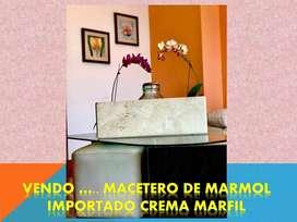 MACETAS DE MÁRMOL ESPAÑOL CREMA MARFIL IMPORTADO