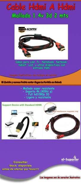 cable 5 Mtrs HDMI Mallado con Flitro