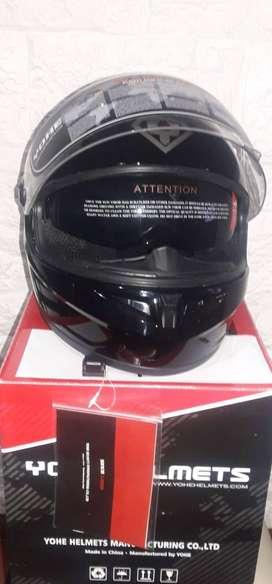 casco Yohe Modelo FF966A Visera integral Doble, talle M - nuevo sin uso