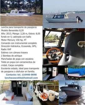 Lancha cabinada Benavidez
