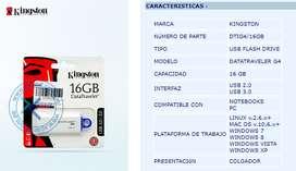 MEMORIA USB 16GB KINGSTON nuevo 10/10
