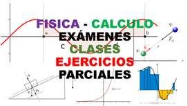 DOCENTES FISICA PROFESORES CALCULO CLASES EXAMENES PARCIALES TRABAJOS EJERCICIOS TALLERES