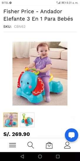 Caminador de bebe 3en1