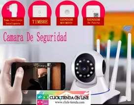 Kit de seguridad inalámbrica/ cámara,timbre, sensor, toma inteligente