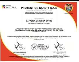 Cordinador para trabajo alturas sistemas de seguridad electrónica