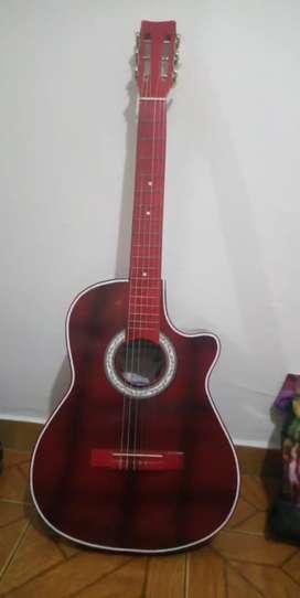 Promocion Guitarra acustica roja