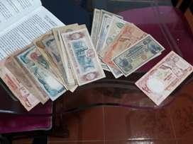 vendo coleccion billetes antiguos de diferentes par
