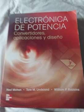 Electrónica de potencia convertidores aplicaciones y diseño William Robbins editorial mcgraw-hill