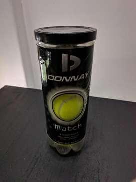 Pack 3 pelotas de tenis marca Donnay