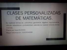Clases de matemátucas