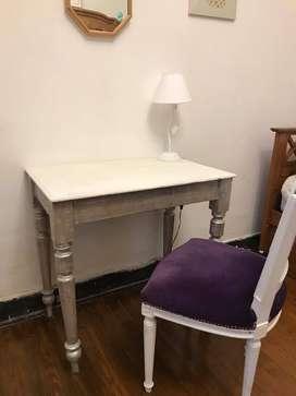 MESA DE CAMPO O ESCRITORIO ANTIGUO DE MADERA