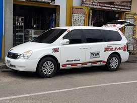 Kia grand carnival intermunicipal 2012
