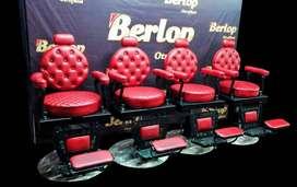 sillas para barbería clásicas rojas