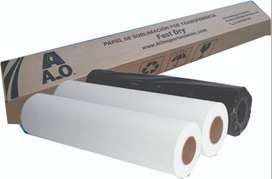 Papel para sublimar rollo de 1.12m o 1.60m