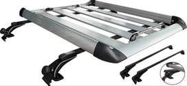 Parrilla De Techo Portaequipaje De Aluminio Carro Automovil Camioneta Con Barras y Sistema orillo puerta Ref. MC-Rack