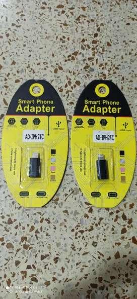 adaptador iphone lightning a tipo C