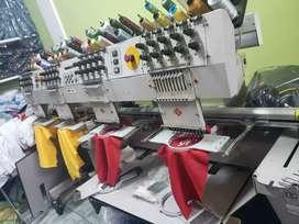 Máquina bordadora Melco 4 cabezas