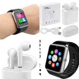 Reloj inteligente + audifonos inalambricos