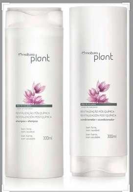 Kit revitalizacion postquimica natura plant x 2 tarro shampoo y acondicionador 300ml