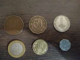 Vendo set monedas chile