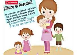 Niñera externa con titulo de atencion integral a la primera infancia.
