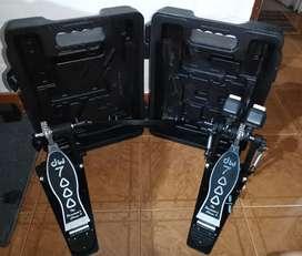 Doble pedal twin DW 7000 con estuche original rígido