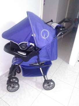 Coche Para Bebe Travel System Kei E16 London Blue
