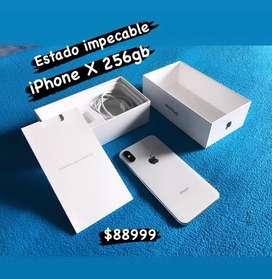 Celu iphone x 256gb memoria usado buen estado