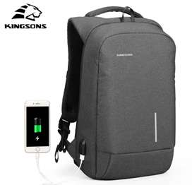 Mochila Kingsons Ks3149w Portalaptop 15.6 Antirrobo Tsa Lock