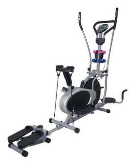 Elíptica Combo 10 En 1,Bicicleta spinning Bandas,pesas,escalador,twister,