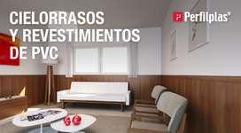 MACHIMBRE DE PVC y revestimientos en PVC, 7mm y 10mm Color Blanco, Nogal, Roble y Caoba. Rosario