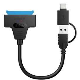 Cable adaptador Sata a USB 3.0 o USB Tipo-C