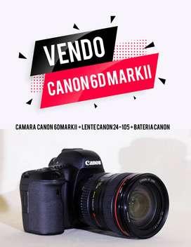 Camara Canon 6D Mark II+Lente Canon 24-105