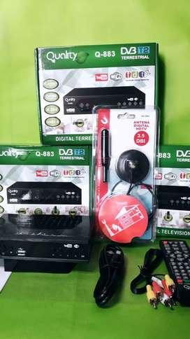 Dcodificador Tdt con Antena de Potencia
