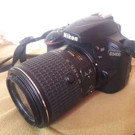 Nikon d3400 con dos lentes