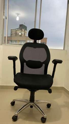 Silla Oficina Presidente Monaco Syncro, color negro