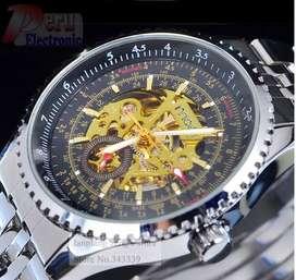 Reloj Skeleton MCE Esqueleto Mecanico Automatico Winner