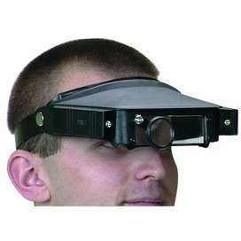 head strap magnifier with lights item 38896