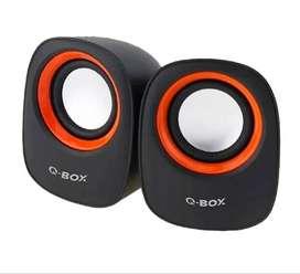 Parlantes Para Pc Qbox C105 Stereo Usb Aux - La Plata
