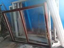 Ventanal 190 ancho x 150 alto vidrios cortina reja
