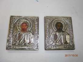 ICONOS JESÚS CON LAS TABLAS PLATA 0925. PRECIO X C/U